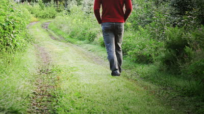 stock-footage-man-walking-alone-in-the-forest